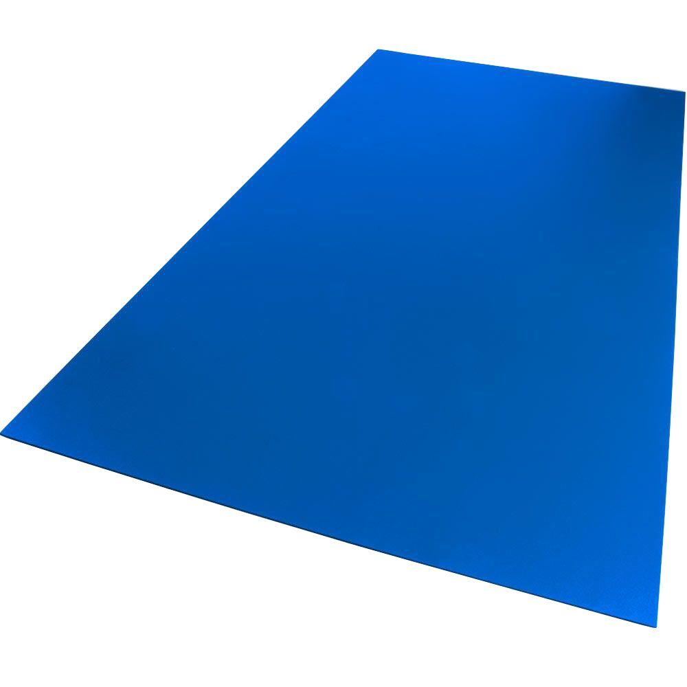 24 in. x 48 in. x 0.236 in. Foam PVC Blue Sheet