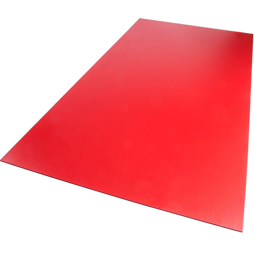 24 in. x 48 in. x 0.236 in. Foam PVC Red Sheet