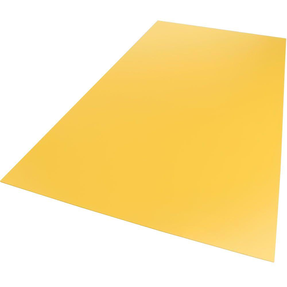 24 in. x 48 in. x 0.118 in. Foam PVC Yellow Sheet