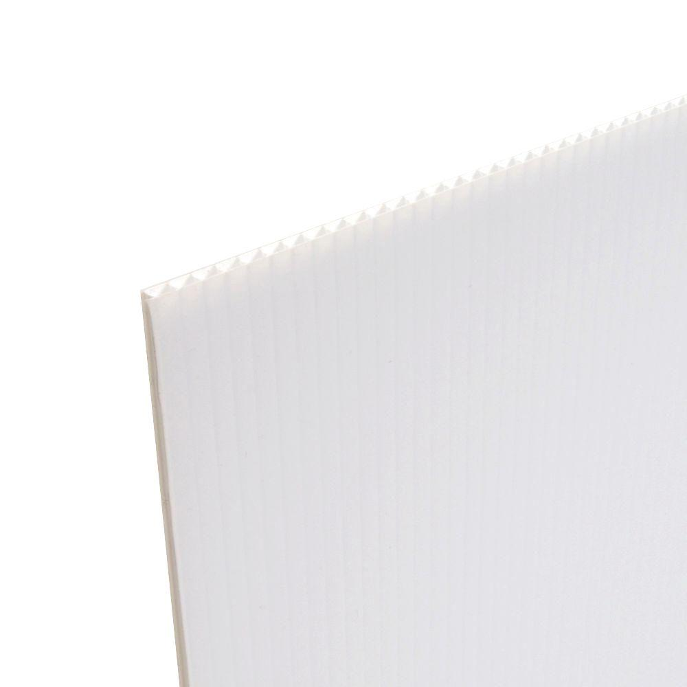 48 in. x 96 in. x 0.236 in. Fluted Twin Wall Plastic Sheet (5-Pack)