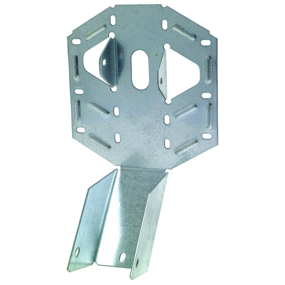 2 in. x 6 in. 18-Gauge Light Adjustable U Joist Hanger