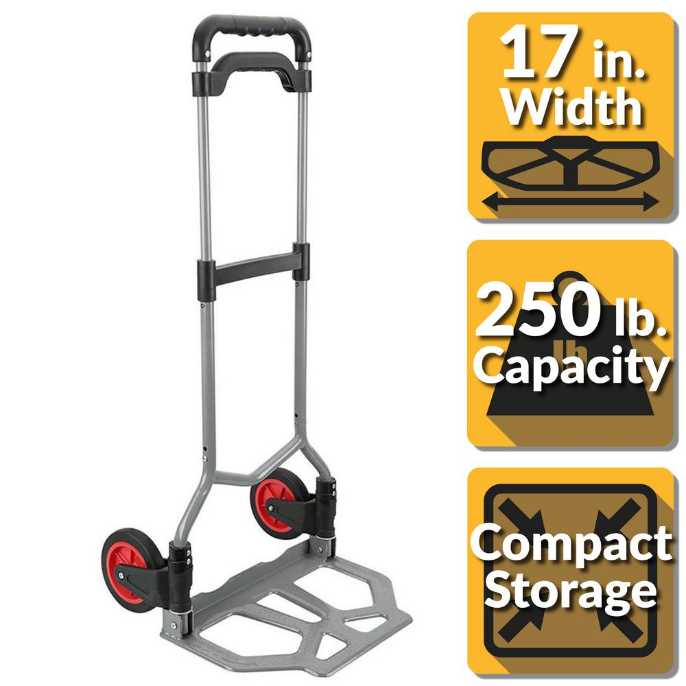 250 lbs. Capacity Pack-N-Roll Folding Hand Truck