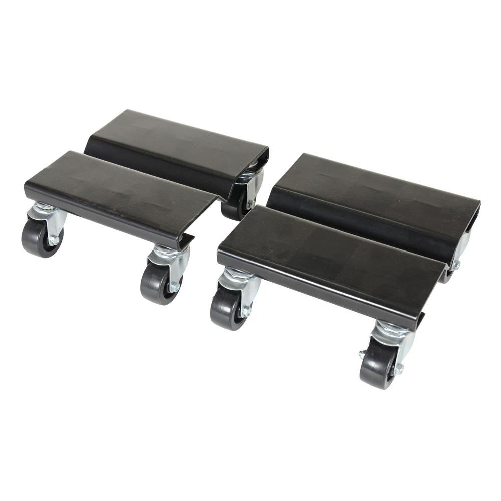 8 in. x 8 in. Steel Dolly Set of 2