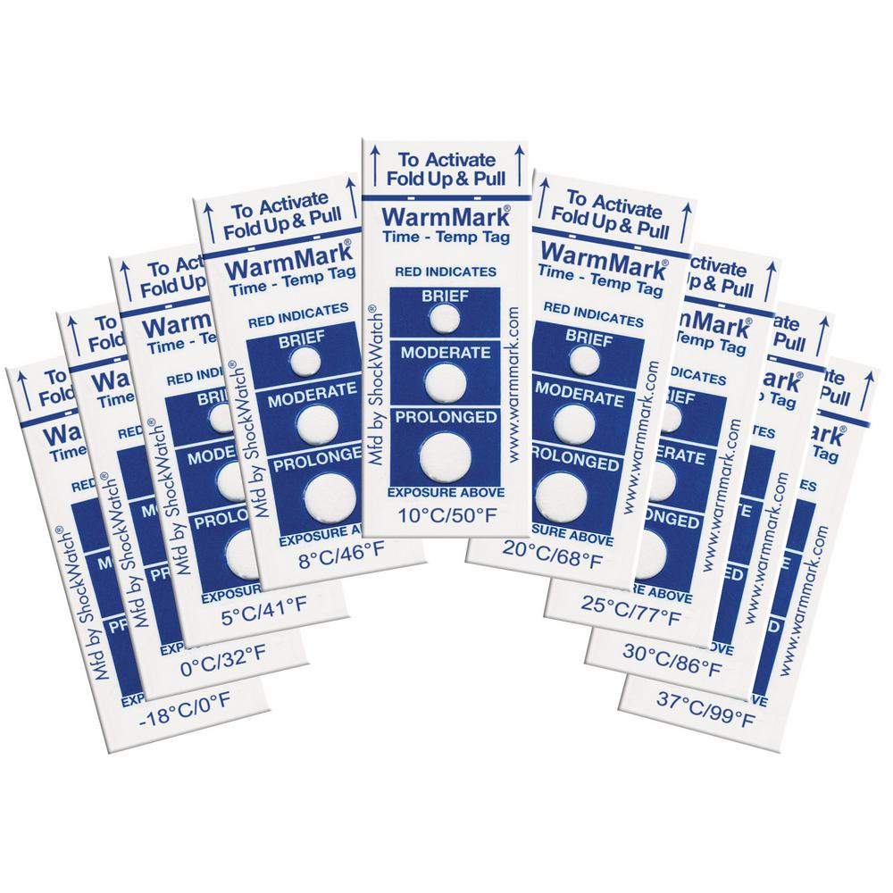 WarmMark 3.3 in. x 0.8 in. 37┬░C/99┬░F Temperature Indicator (10-Pack)