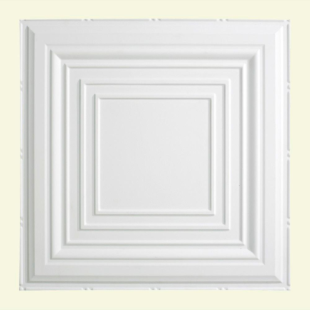 Traditional 3 - 2 ft. x 2 ft. Lay-in Ceiling Tile in Matte White