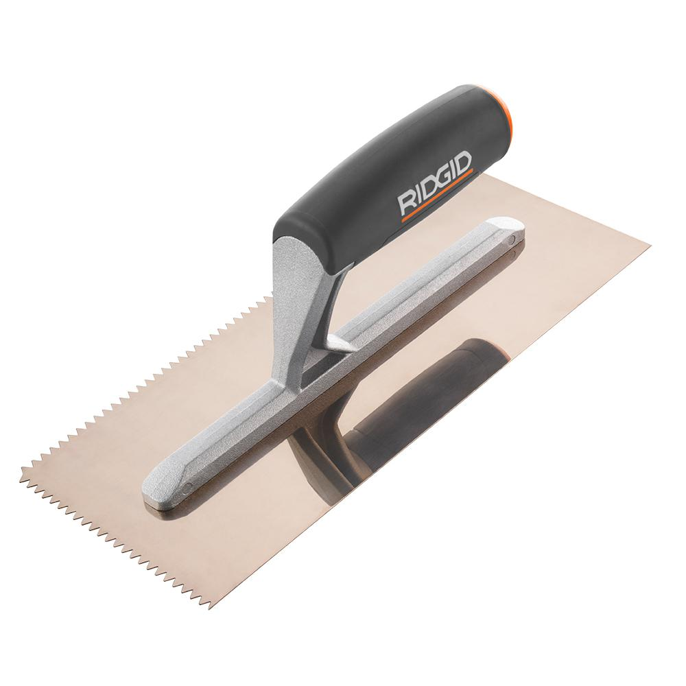 3/16 in. x 5/32 in. V-Notch Trowel with Golden Finish